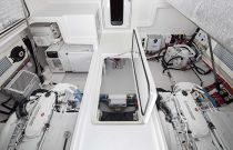 Viking 38 Billfish Engine Room Door Open