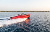 Princess Yachts R35 Signal Red Color