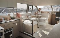 salon and galley on the prestige 420 flybridge