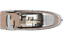 main deck layout on the prestige 420 flybridge