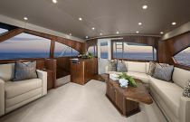 Viking Yachts 92C Salon Sofa Photo