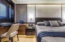Master suite seating area on navetta 68