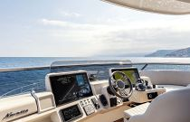 Outside helm station on Navetta 68