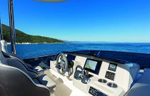 flybridge helm on absolute yachts 62