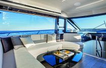 absolute yachts 62 dining area