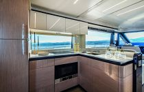 galley on the absolute 62 flybridge