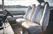 comfortable helm seats on flybridge