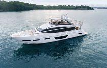 port side white hull princess y85