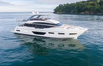 starboard side white hull princess y85