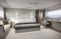 master stateroom on the Princess V78