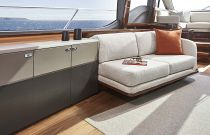 Princess V78 interior salon seating area
