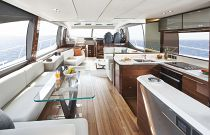 Gorgeous salon on the V78 Yacht