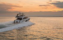 Princess F70 Cruising into sunset