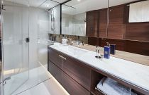 Owners bathroom on the Princess F70