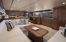 Viking Yachts 80 Enclosed Bridge Convertible Salon Image