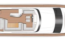 Flybridge layout on the Princess Y78