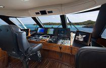 Viking Yachts 80 Enclosed Bridge Helm Electronics