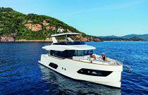 Navetta 58 at anchor