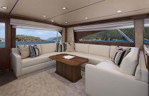 Viking Yachts 80 EB Convertible Salon Sofa