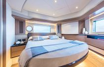 Master stateroom with large bed