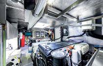 Engine Room on the Navetta 52