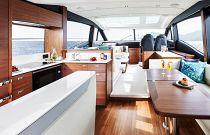 Salon on Princess Yachts S62