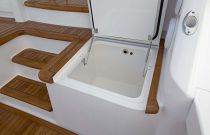 Viking Yachts 72EB Starboard Additional Mezzanine Bait Storage