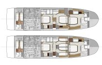 Prestige 690 Lower Deck Layout