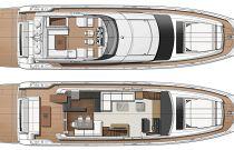 Main Deck Layout - Prestige 690S