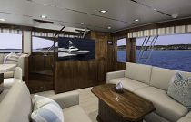 Viking Yachts 72 Enclosed Bridge Salon TV