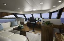 Viking Yachts 72EB Enclosed Bridge Seating