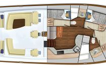 Viking 54 Open 3 cabin layout