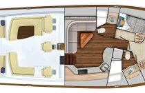 Viking 54 Open 2 Cabin Layout