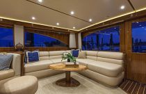 Viking Yachts 66 EB Salon Sofa