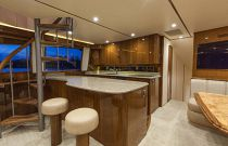 Viking Yachts 66EB Galley Bar Stool Seating