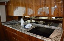 Viking Yachts 62 Galley Stove with Granite