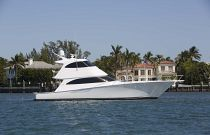 Viking Yachts 62 Enclosed Bridge Yacht Starboard