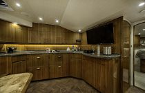 Viking Yachts 52 Teak Cabinets Galley