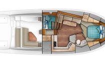 Viking Yachts 44 Open Main Deck Layout