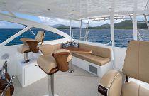 Viking Yachts 44 Open centerline forward helm station