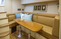 Viking Yachts 42 Sport Tower Teak Dinette Table