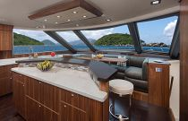 Viking Yachts 93 Galley Forward Image