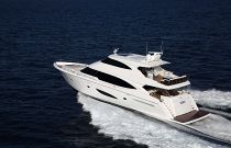 Viking 93 Motor Yacht Port Side Running Image
