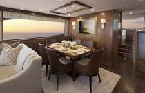 Viking Yachts 75 MY Dining Room Detail View
