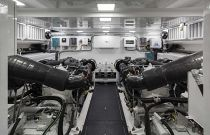 Viking Yachts 75 MY Engine Room View