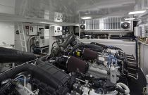 Viking Yachts 75 Engine Room Access