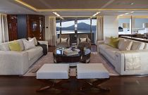 Princess Yachts 40M Salon Sofa