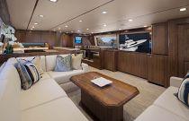 Viking Yachts 80 Convertible Salon TV