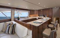 Viking Yachts 80 Galley Island Seating