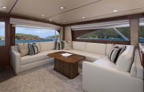 Viking Yachts 80C Salon Sofa